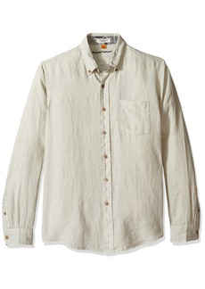 Tailor Vintage Men's Long Sleeve 100% Linen Shirt Cloud