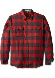 Tailor Vintage Men's Long Sleeve Buffalo Flannel Check Button Down Shirt  L