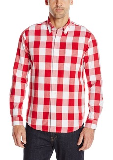 Tailor Vintage Men's Long Sleeve Classic Big Gingham Shirt