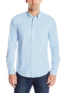 Tailor Vintage Men's Long Sleeve Classic Mini Gingham Shirt