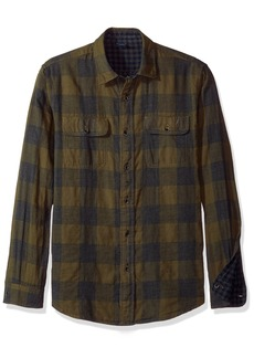 Tailor Vintage Men's Long Sleeve Gingham/Buffalo Doubleface Reversible Shirt  SM