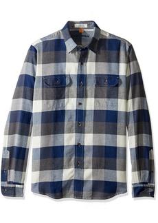 Tailor Vintage Men's Long Sleeve Indigo Flannel Button Down Shirt Buffalo M
