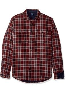 Tailor Vintage Men's Port Herringbone Long Sleeve Doubleface Reversible Shirt  M