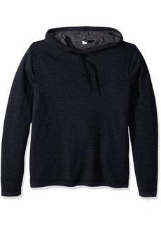Tailor Vintage Men's Reversible Merino Wool Popover Hoodie Sweater Navy/ Grey Heather M