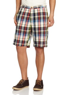 Tailor Vintage Men's Reversible Tree of Life Plaid/Solid Shorts