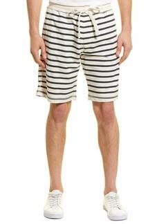 Tailor Vintage Men's Sailor Stripe Sweat Short Dark Wash