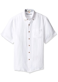Tailor Vintage Men's Short Sleeve 100% Linen Shirt