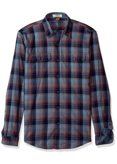 Tailor Vintage Men's Smokey Indigo Plaid Shirt  L