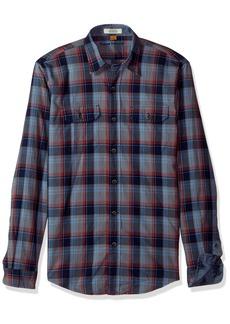 Tailor Vintage Men's Smokey Indigo Plaid Shirt  XL