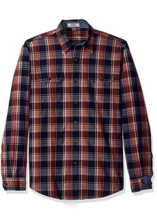 Tailor Vintage Men's Sunset Indigo Plaid Shirt  L