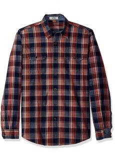 Tailor Vintage Men's Sunset Indigo Plaid Shirt  XL