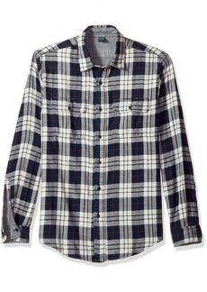 Tailor Vintage Men's Trail Long Sleeve Doubleface Reversible Shirt  L