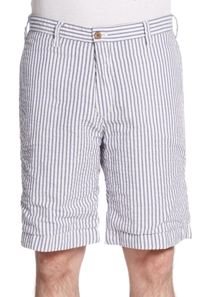 Tailor Vintage Reversible Seersucker Shorts