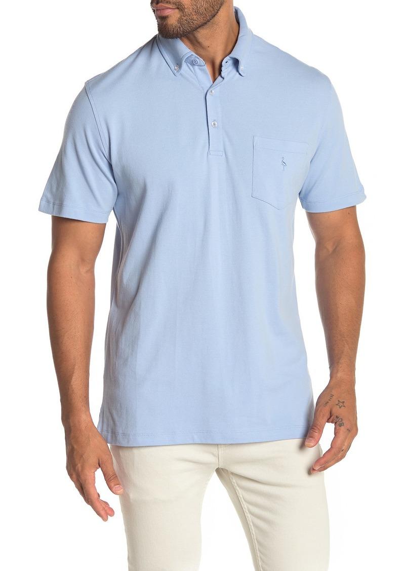 TailorByrd Button Collar Short Sleeve Polo