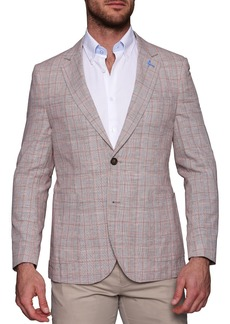TailorByrd Carmen Plaid Two Button Notch Lapel Blazer