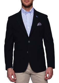 TailorByrd Elden Seersucker Two Button Notch Lapel Blazer