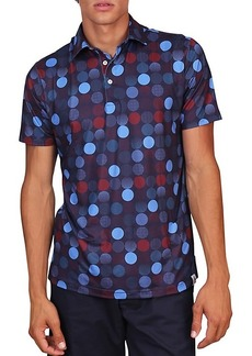TailorByrd Golf Circle-Print Performance Polo