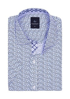 TailorByrd Leonard Short-Sleeve Geometric Shirt