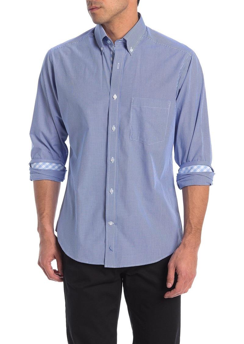 TailorByrd Micro Check Print Regular Fit Shirt