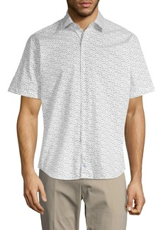 TailorByrd Printed Regular-Fit Button-Down Shirt
