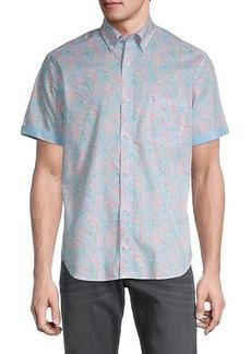 TailorByrd Regular-Fit Jerry Leaf-Print Shirt