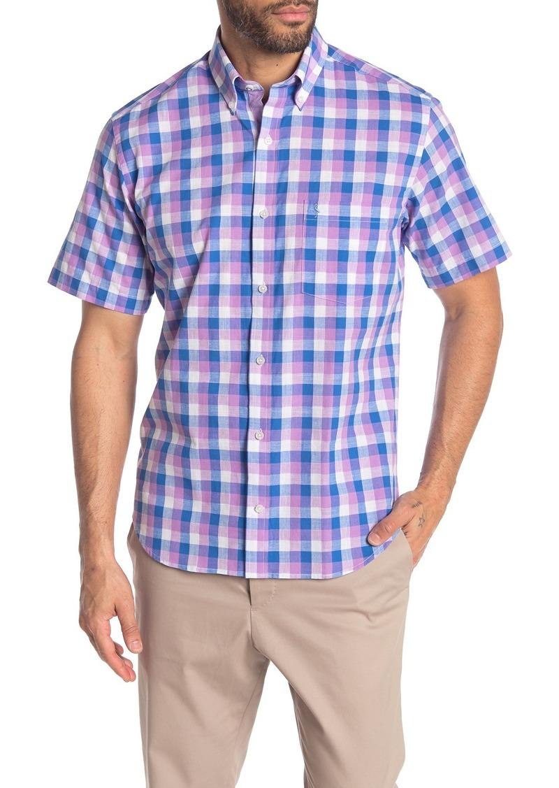 TailorByrd Short Sleeve Check Print Woven Regular Fit Shirt