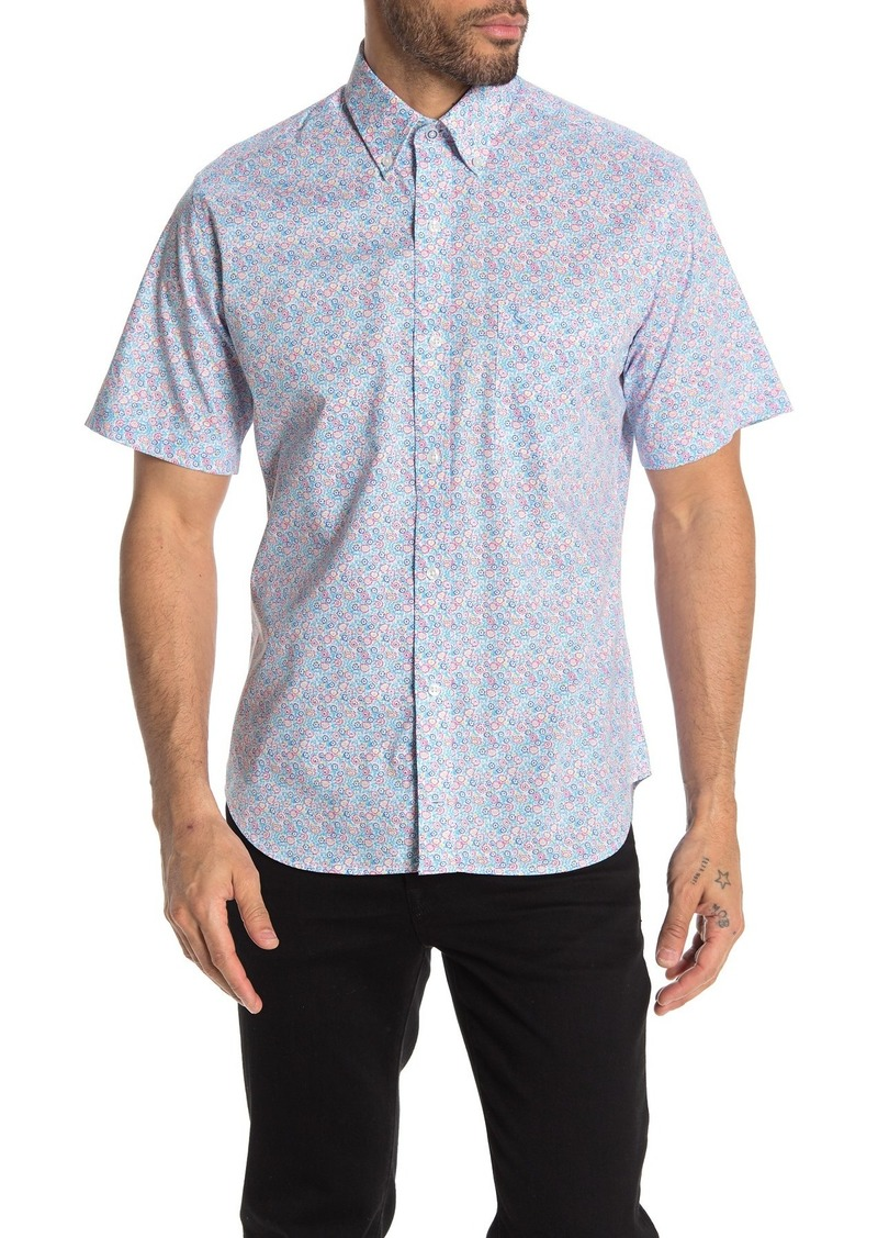 TailorByrd Short Sleeve Floral Print Woven Regular Fit Shirt