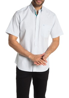 TailorByrd Geo Print Short Sleeve Regular Fit Shirt