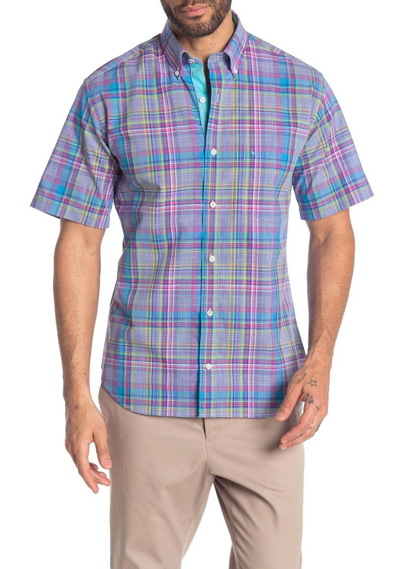 TailorByrd Short Sleeve Plaid Print Woven Regular Fit Shirt