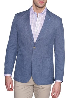 TailorByrd Solid Stretch Performance Two Button Notch Lapel Modern Fit Sport Coat