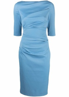 Talbot Runhof fitted ruched dress