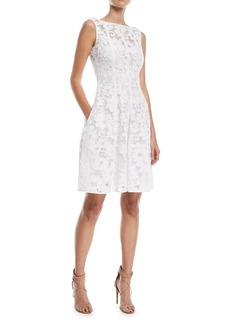 Talbot Runhof Golo Floral Lace Cocktail Dress
