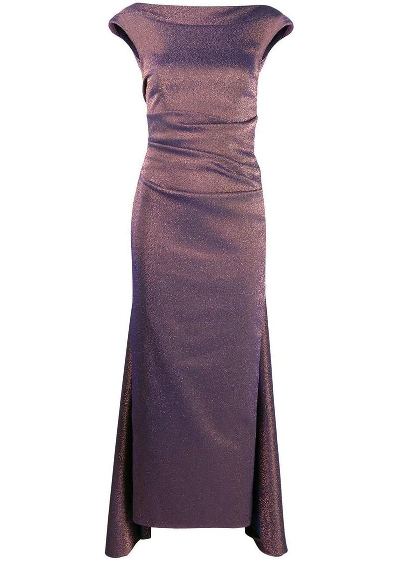 Talbot Runhof iridescent gazar long dress