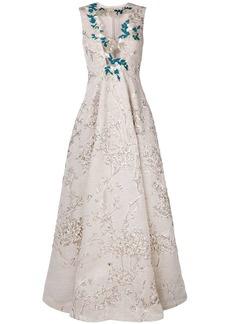 Talbot Runhof jacquard gown