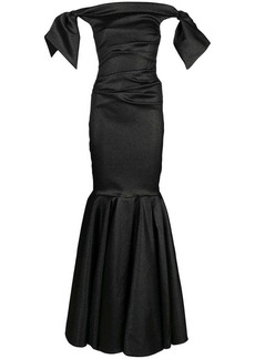Talbot Runhof lamé evening dress