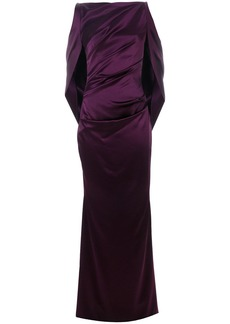 Talbot Runhof long draped gown