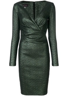 Talbot Runhof long-sleeved pencil dress
