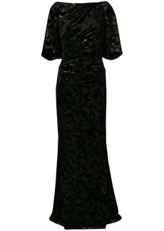 Talbot Runhof long velvet dress