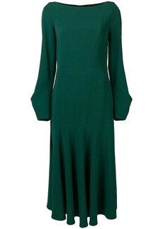 Talbot Runhof loose fit midi dress