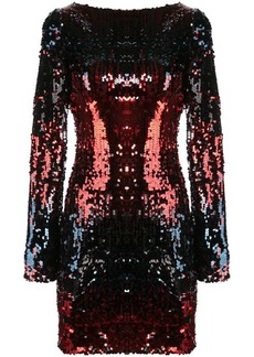 Talbot Runhof Lorena sequin mini dress
