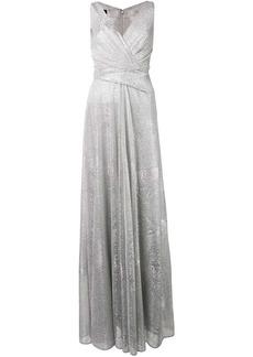 Talbot Runhof metallic draped long dress