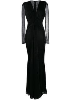 Talbot Runhof metallic voile long dress