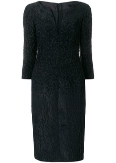 Talbot Runhof midi jacquard dress