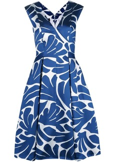 Talbot Runhof printed flared midi dress