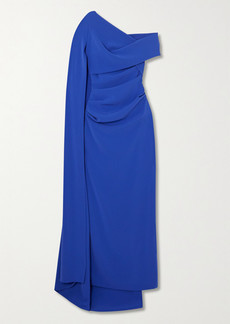 Talbot Runhof Rosedale Draped Cape-effect Crepe Gown