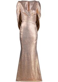 Talbot Runhof Rosin metallic dress