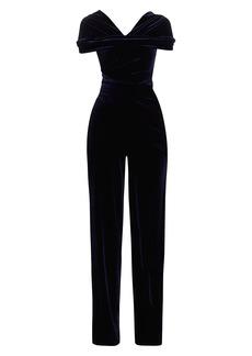 Talbot Runhof Stretch Velvet Jumpsuit