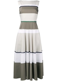 Talbot Runhof stripe flared dress