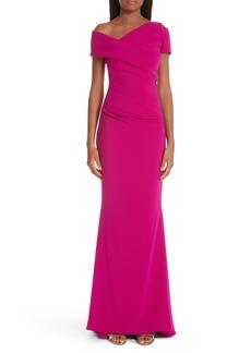 Talbot Runhof Asymmetrical Evening Dress