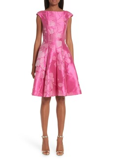 Talbot Runhof Floral Cocktail Dress